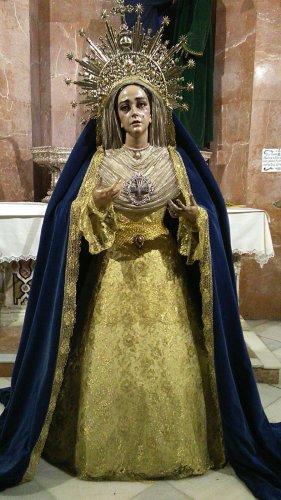 """""""Salve, llena de gracia; el Señor es contigo""""  Nuestra Titular. Festividad de la Inmaculada Concepción."""
